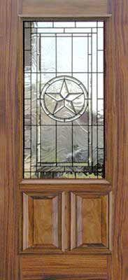 My Future Front Door Texas Star Leaded Glass Bevel Door
