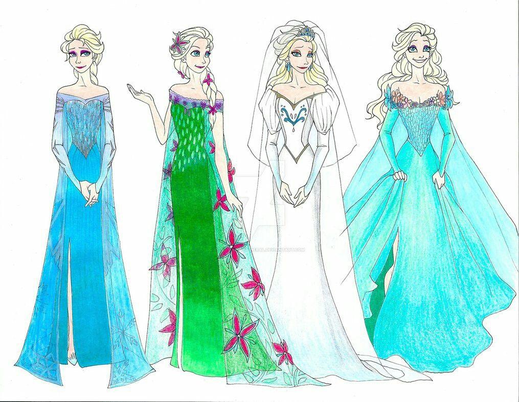 Pin By Helena On Disney 3 Disney Cartoons Elsa Wedding Dress Disney Art [ 787 x 1015 Pixel ]