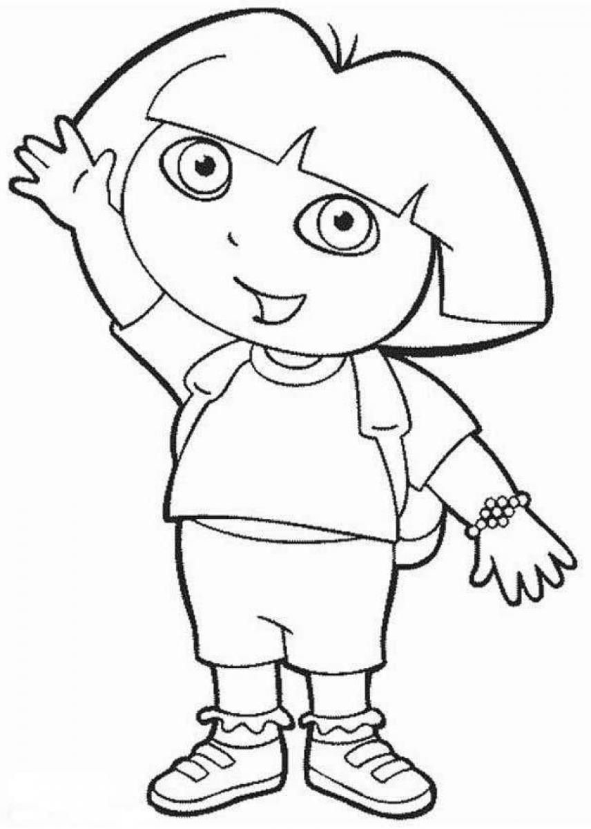 Dora The Explorer Coloring Pages Only Coloring Pagesonly Coloring Pages Mobile Version Cartoon Coloring Pages Dora Cartoon Dora Coloring
