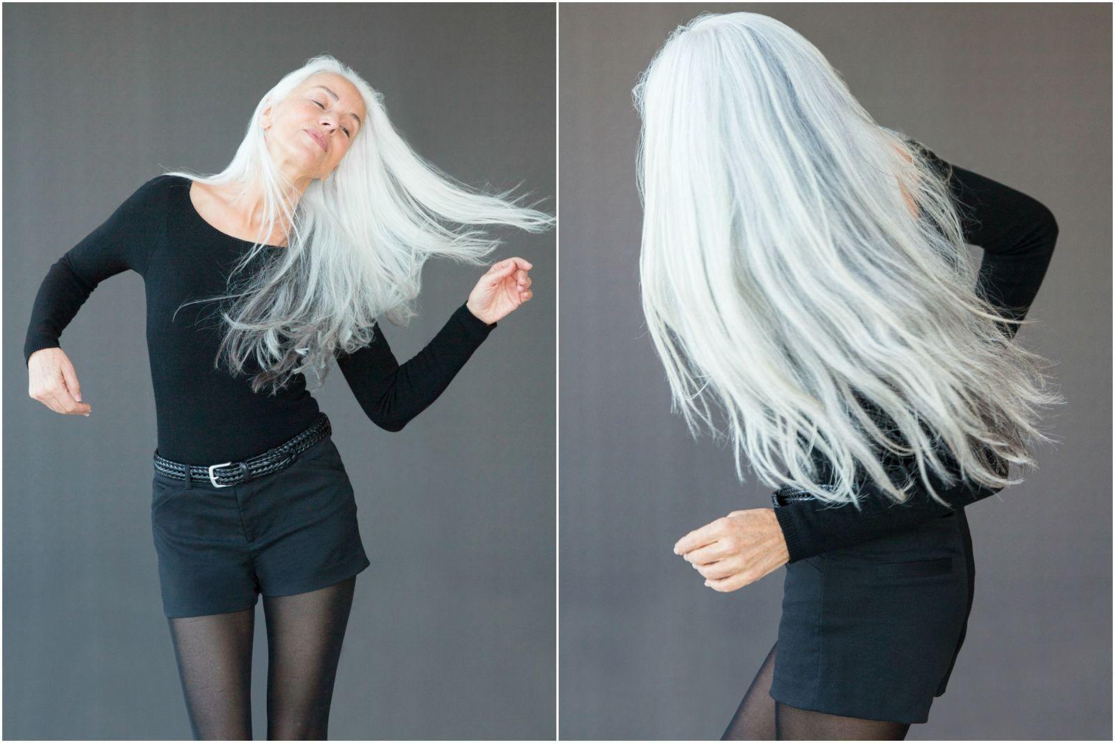 What It S Really Like To Be A 60 Year Old Bikini Model Grey Hair Styles For Women Bikini Models Model