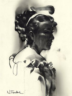 India ink or charcoal? | Portrait, Nathan fowkes, Portrait ...