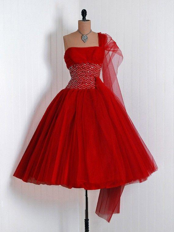 Pretty in Pink 50s Dress, Chiffon Cupcake, 1950s Vintage