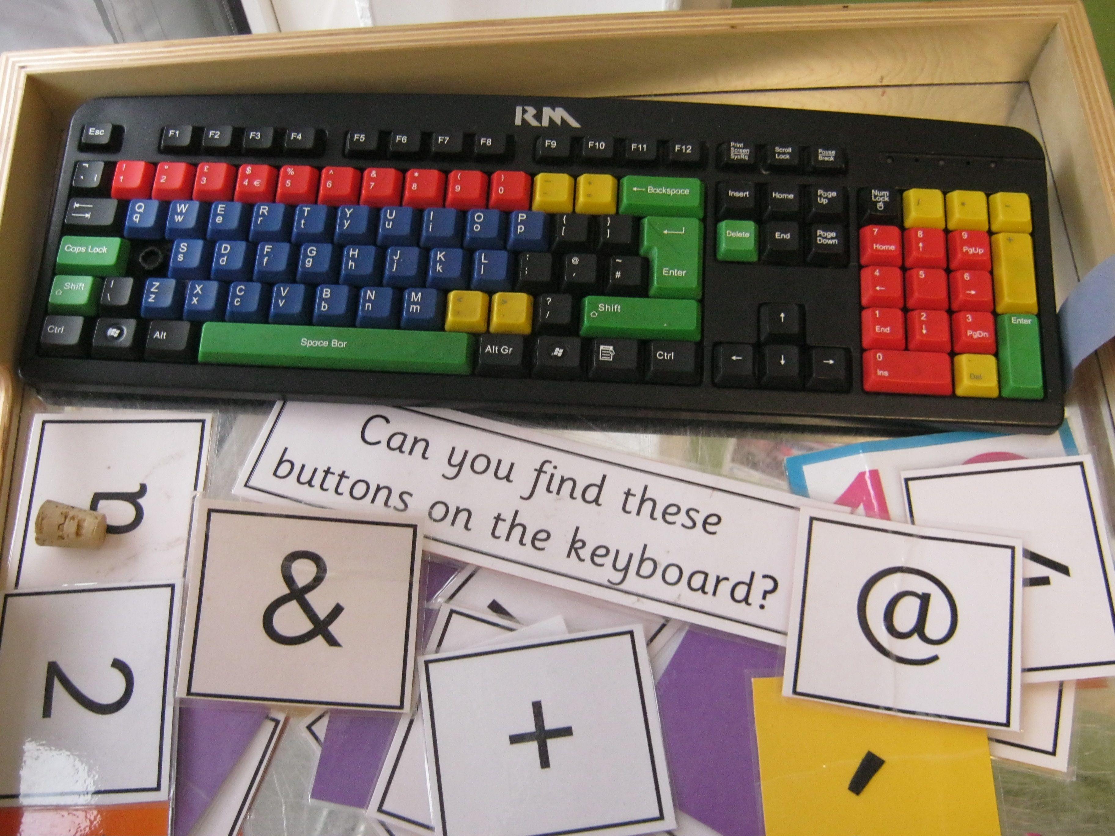Ict Classroom Ideas ~ Keyboard matching game at ku stourton creative