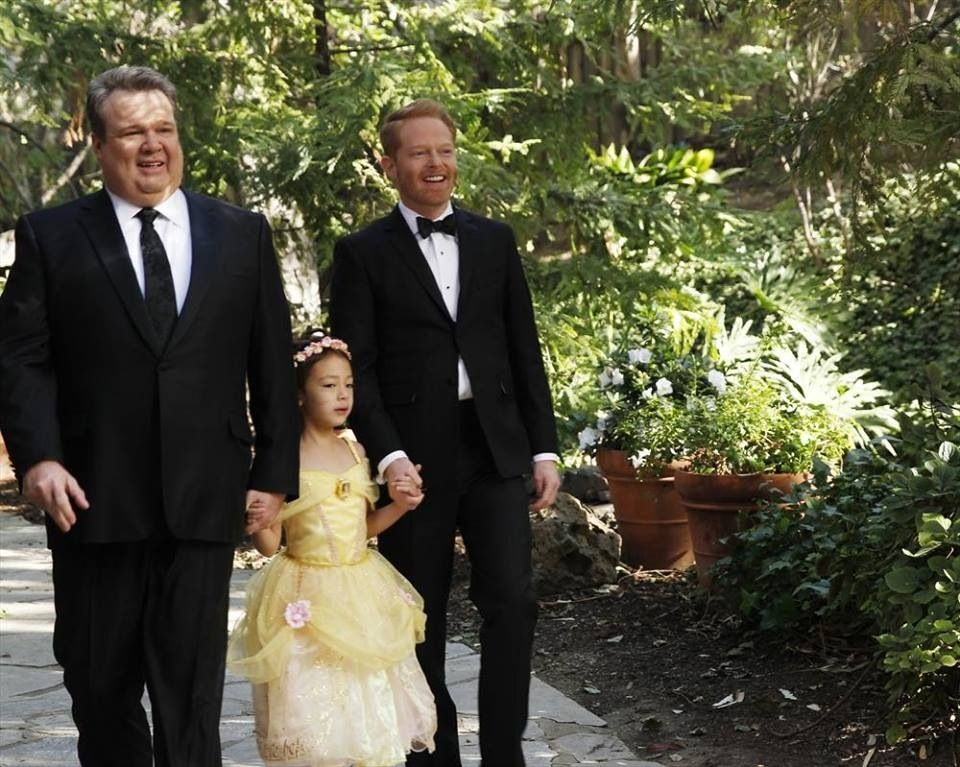 Image result for modern family lily with dads