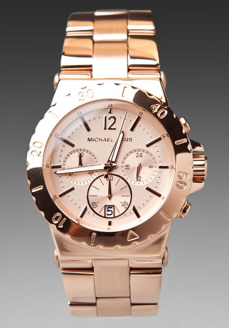 6854a8273c8eb I wear this ALL the time - Michael Kors Rose Gold Chronograph - it goes  with EVERYTHING!