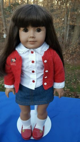 American Girl Pleasant Company Doll Dark Skin Brown Hair And Eyes