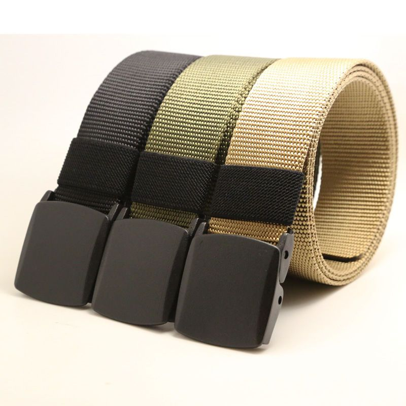 Men/'s Military Outdoor Sport Military Tactical Nylon Waistband Canvas Web Belt ~