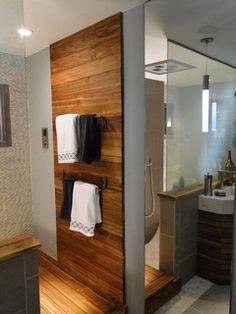 Teak Wall Bathroom Google Search Teak Bathroom Bathroom Feature Wall Timber Feature Wall