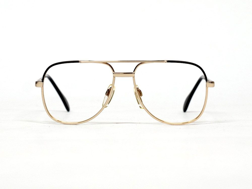 Vintage MENRAD eyeglass frame | double bridge aviator metal ...