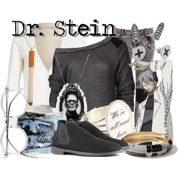"""(Professor) Dr. Franken Stein from Soul Eater"" by likeghostsinthesnow on Polyvore All but cigarette necklace"