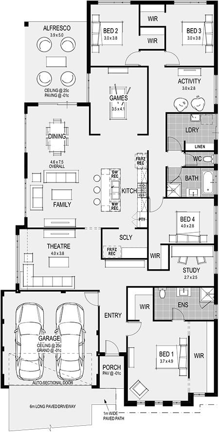 Home Types Home Group Wa Family House Plans Home Design Floor Plans New House Plans