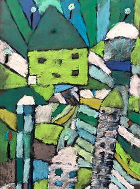 Paul Klee El Jardin de Rosas   Drawing projects, Pastel drawing and ...