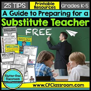 FREE Guide to Preparing for a Substitute!