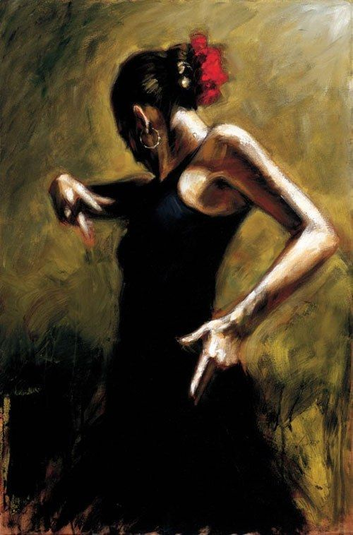 Flamenco Dancer Flamenco Dancer painting anysize 50% off | Dancer painting,  Fabian perez, Flamenco dancers