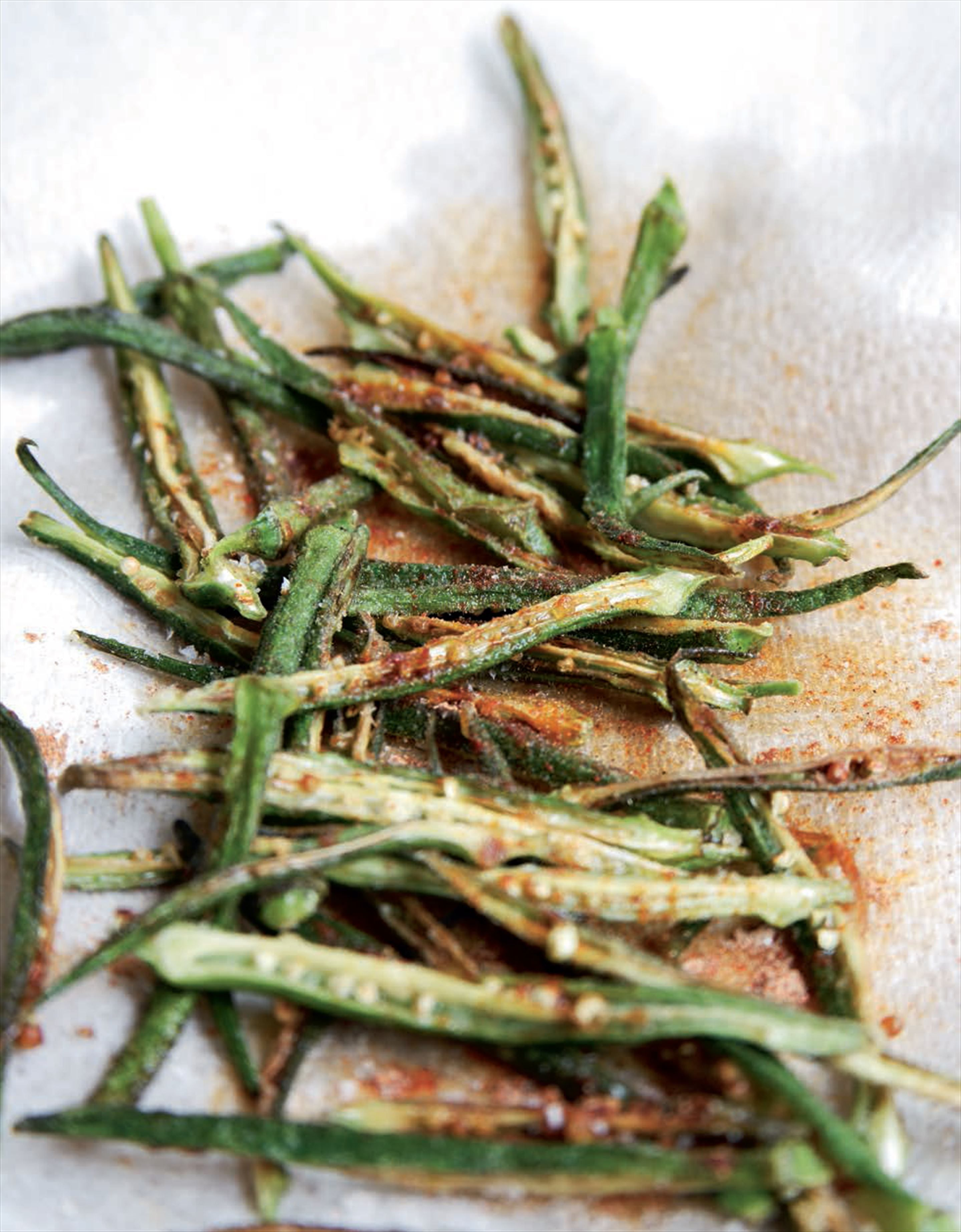 Fried Spiced Okra Recipe From Indian Food Made Easy By Anjum