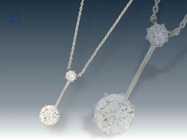 Chain Pendant Fine Antique Diamond Necklace Heinrich Schneider