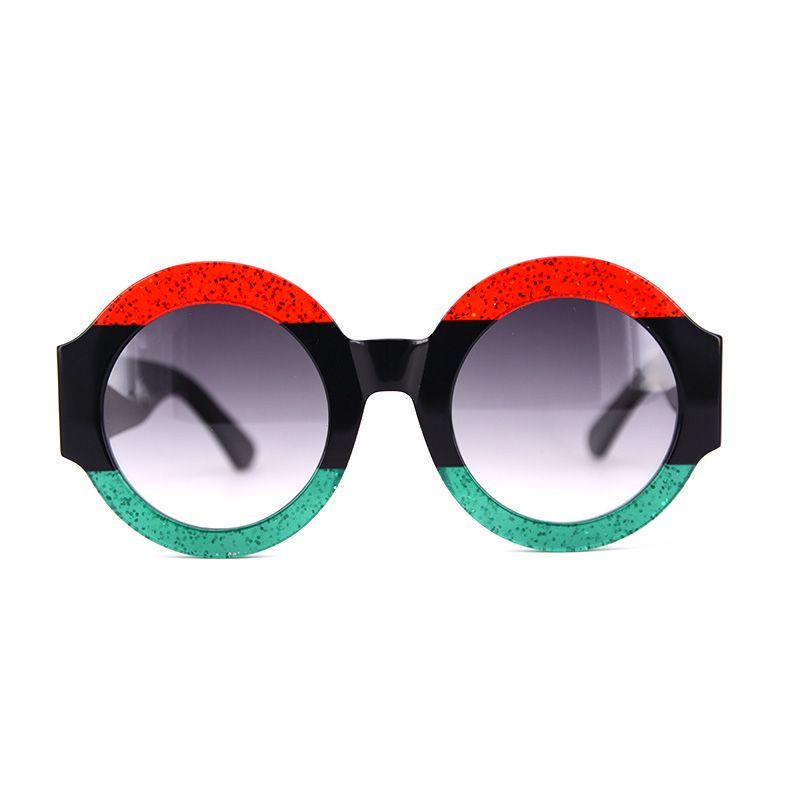 Oversize Luxury Red Green Black Sunglasses UV400 /& Case and Cloth