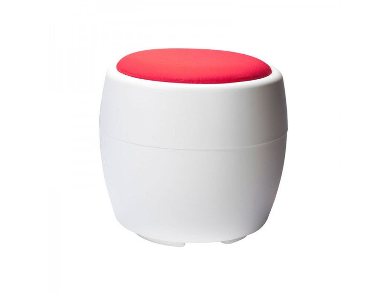 Red Candy Ottoman for Rent - Ottoman Furniture Rental Provided by CORT Events Furnishings