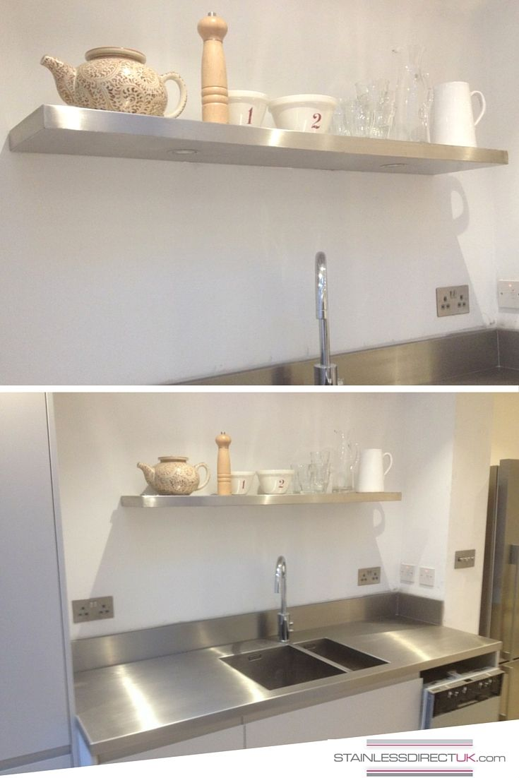 How about a stainless steel kitchen shelf because why not this picture demonstrates nicely how well stainless steel reflects light and therefore