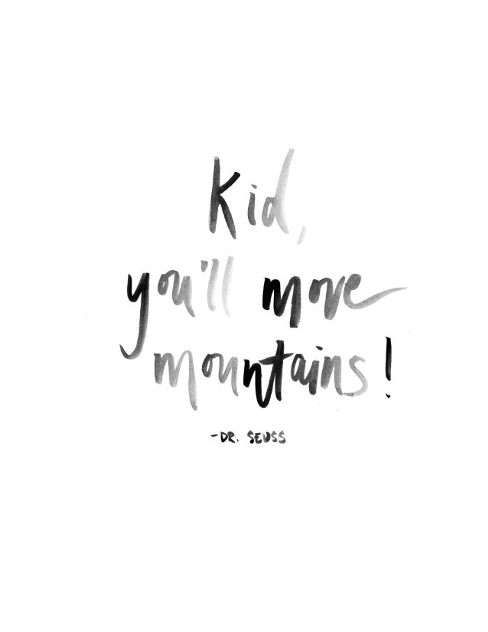 Kid Youll Move Mountains Watercolor Print Art Print Lets Be
