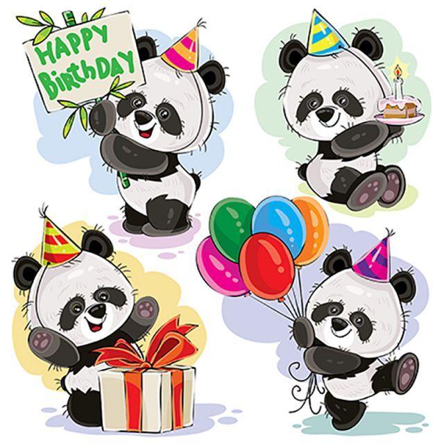 Открытки с днем рождения с пандой картинки