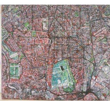 "Saatchi Art Artist jorge Rivas; Painting, ""Madrid ,Aerial View "" Sold"" Bruxelles private collection"" #art"