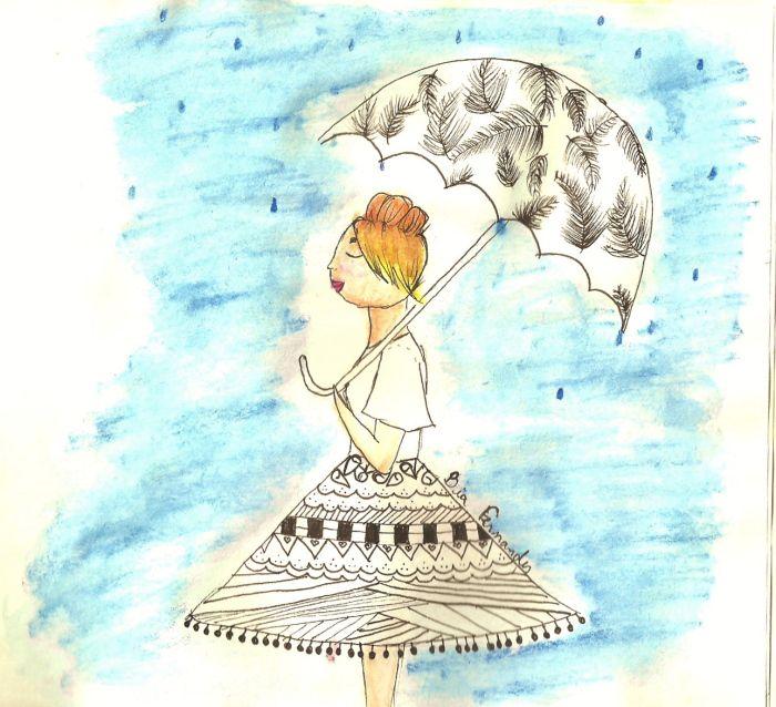 Ilustration: Chuva  | A Filha Da Mãe