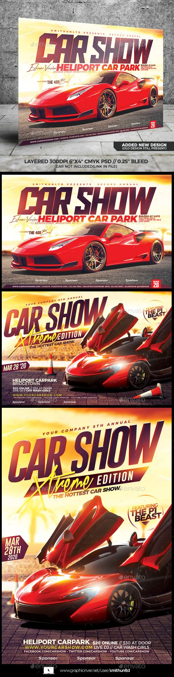 Car Show Flyer Extreme Edition Pinterest Edit Text Fonts And - Car show flyer template word