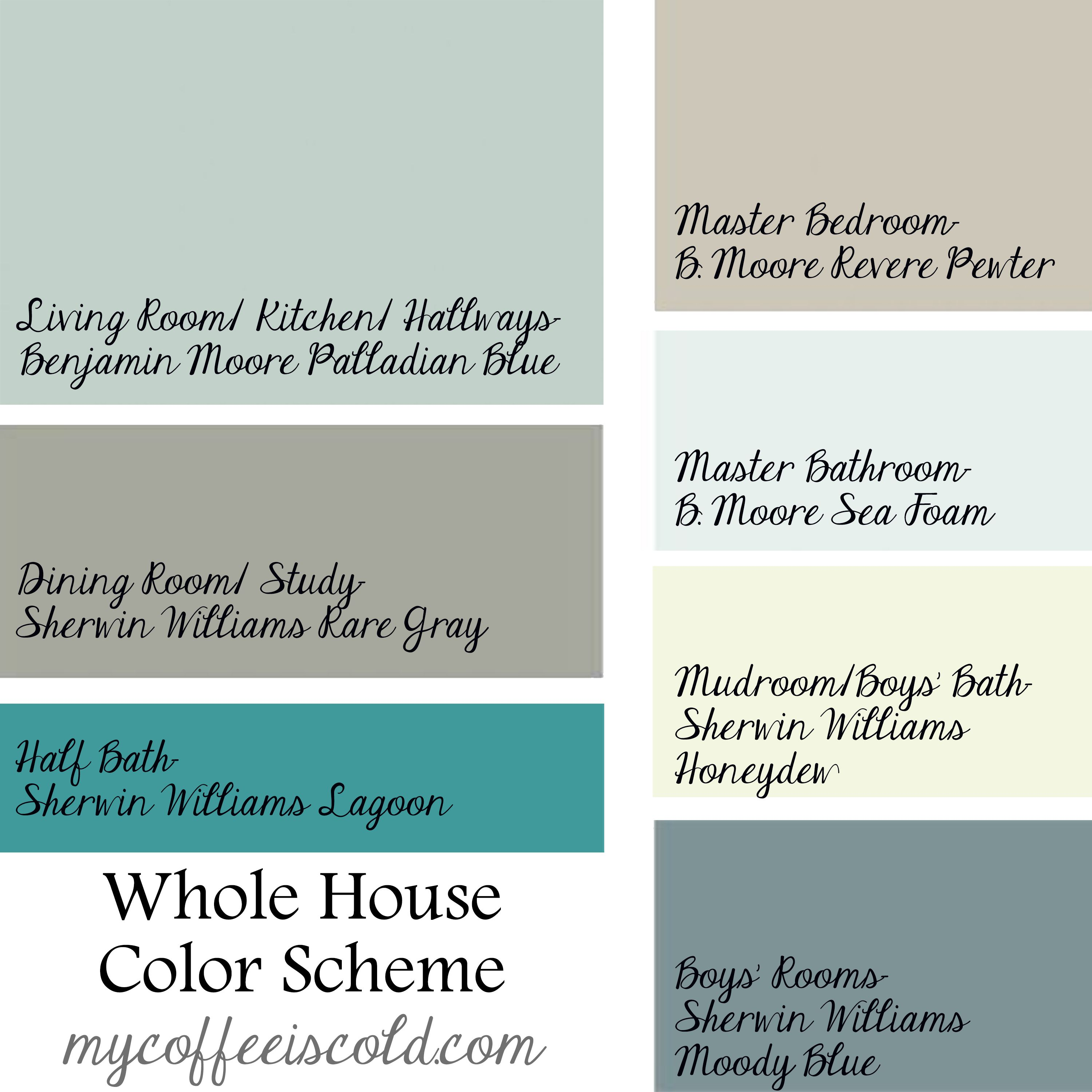 The perfect paint schemes for house exterior exterior - Whole house interior paint palette ...
