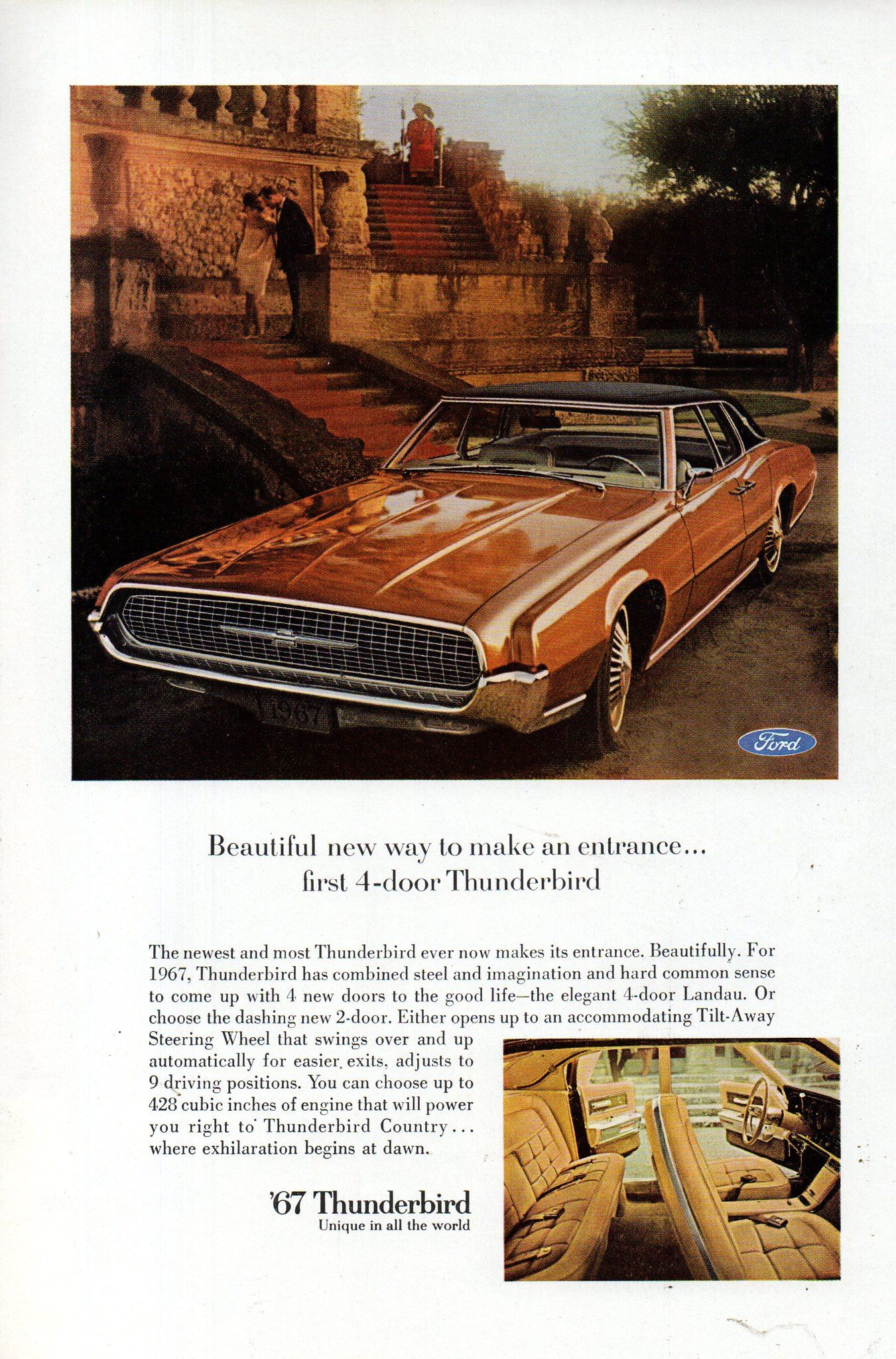 1967 Ford Thunderbird Landau 4 Door Usa Original Magazine