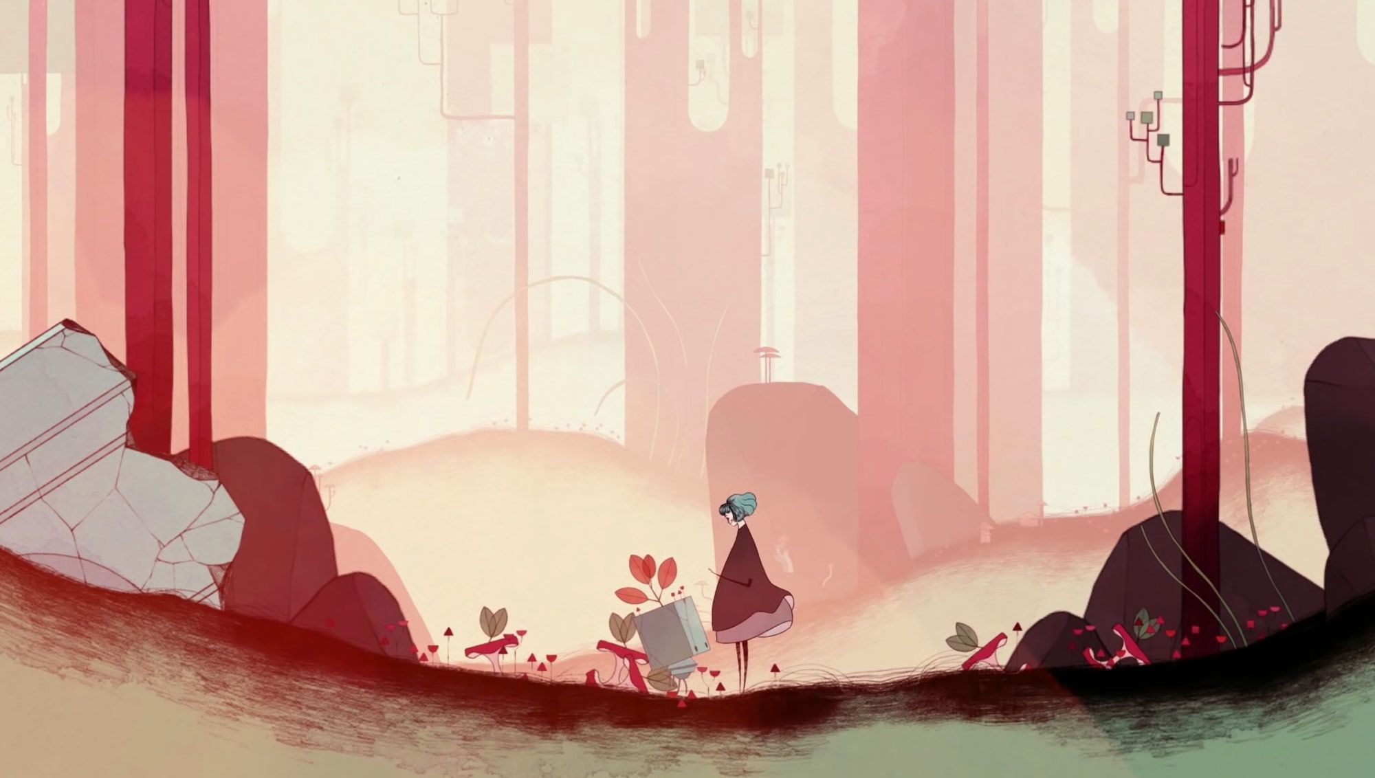 Gris Explore A Surreal Watercolor Landscape In A New Video Game By Nomada Studio Game Concept Art Watercolor Landscape Colossal Art
