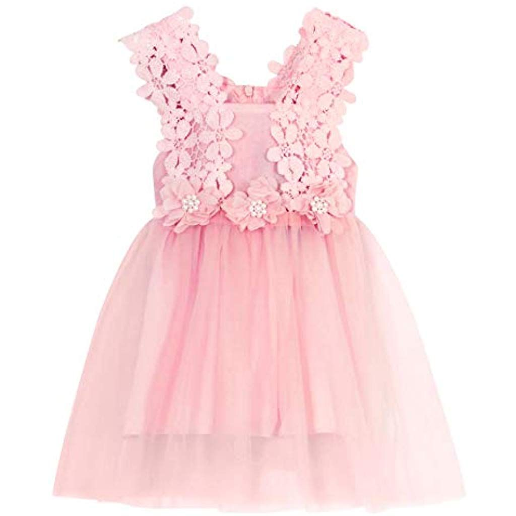 Amzbarley Abendkleid Baby Mädchen Sommer Party Kleid Kinder