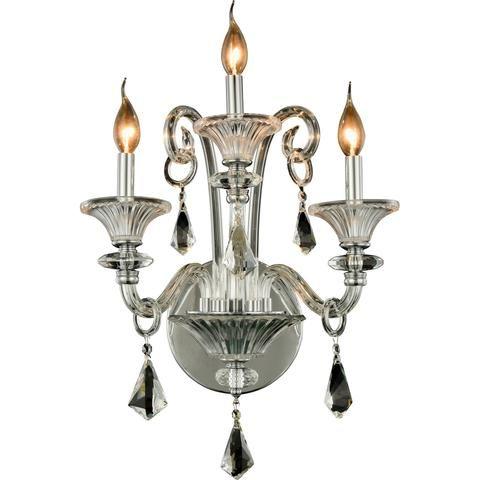 "Aurora 19"" W Wall Sconce, Chrome Finish   Elegant lighting ... on Decorative Wall Sconces Candle Holders Chrome Nickel id=23430"