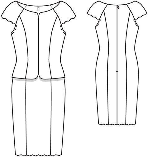 Lace Dress with Faux Top 03/2014 #109 0.90 x 2.40 m, 60 cm zip