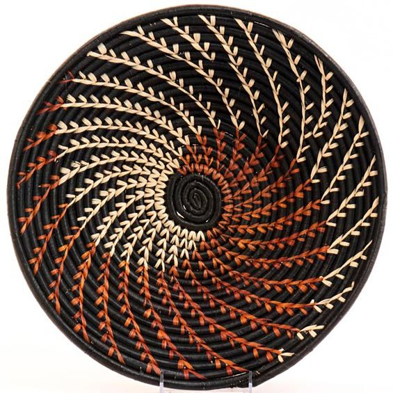 African Woven Baskets: Handwoven Out Of Banana Stalks And Raffia, These Ugandan