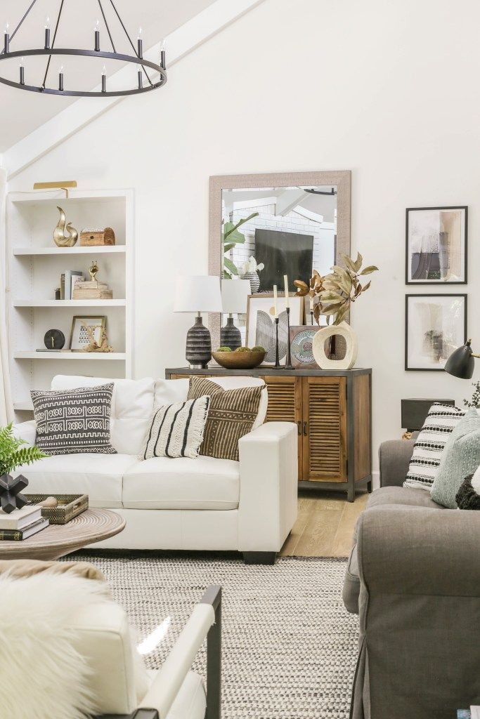 Photo of Reveal: Organic Modern Living Room Transformation on a Budget