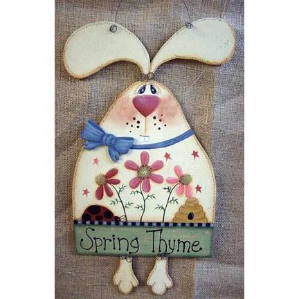 tole painted spring signs | Spring Thyme Bunny DOWNLOAD