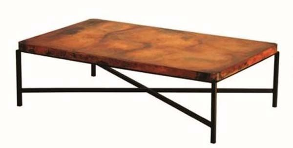 Hand Hammered Copper Coffee Table   Copenhagen Base   Shown Rectangular    Item #CT03076   Also Available In Round U0026 Square   Custom Sizes    Eco Friendly ...