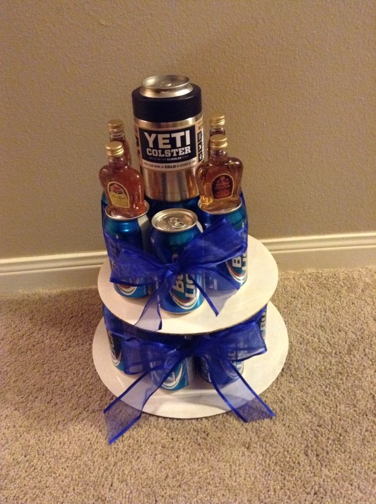 Bud Light Beer Can Birthday Cake for my nephew's 21st
