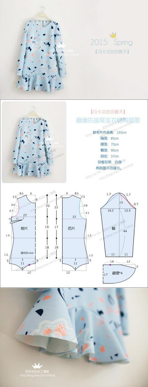 Por las manos (la Obra, la Costura, el Patrón) el Vestido | Moldes ...