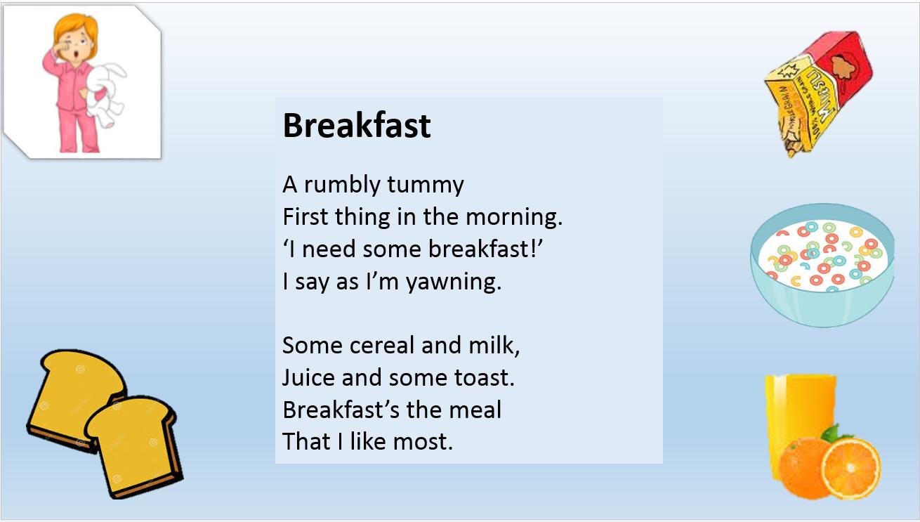 ESLaloud: Food 4 | Food | Kids poems, Food, ESL
