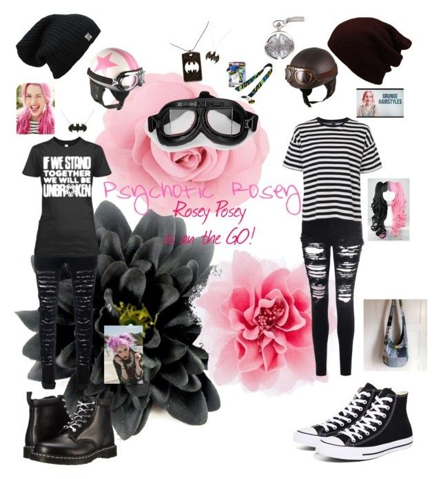 """""""Rose Posey is on the GO!"""" by wings-of-silver ❤ liked on Polyvore featuring Glamorous, French Connection, Dr. Martens and Converse"""