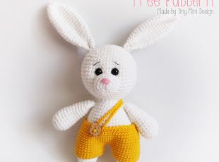 Amigurumi Yellow Pants Bunny-Free Pattern