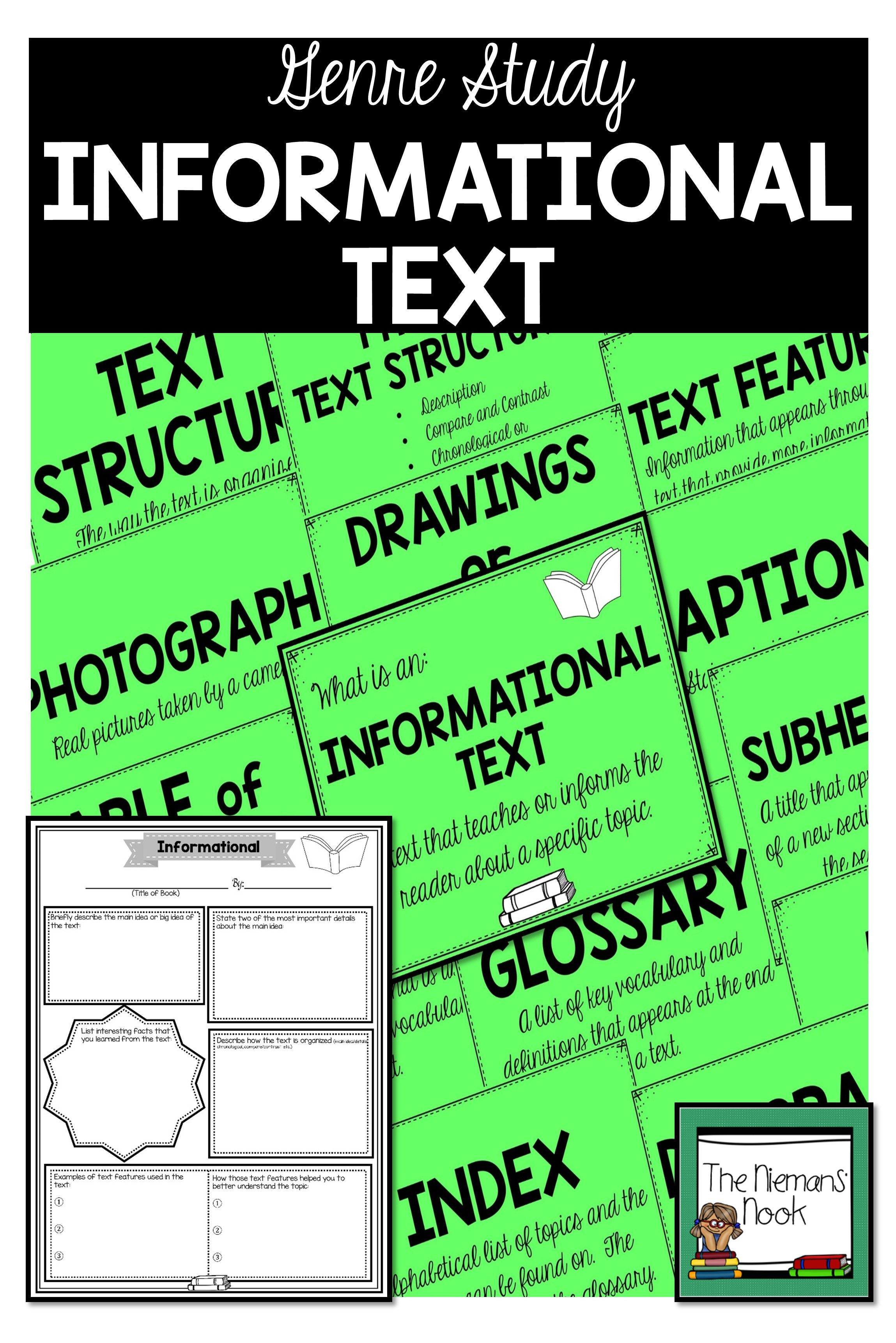Genre Posters And Activities For Informational Texts