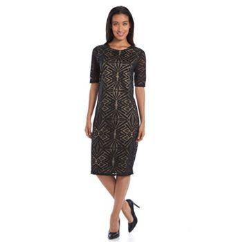 e2f8dc61 Apt. 9® Burnout Sheath Dress - Women's | Hair & Fashion | Sheath ...