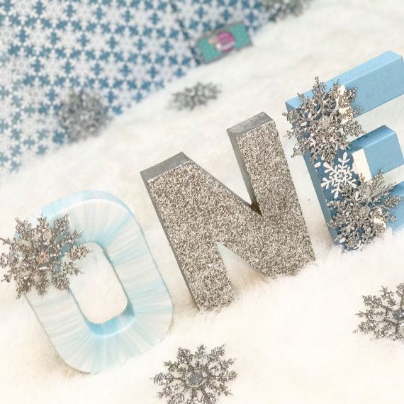 onederland letter Snowflake Letters Snow Princess Letters Winter Onederland Birthday letter