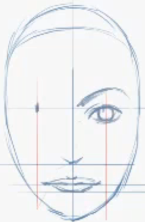 How To Draw Female Faces In Correct Proportions With Easy Drawing Lesson How To Draw Step By Step Drawing Tutorials Drawing Tutorial Face Easy Drawings Drawing Lessons