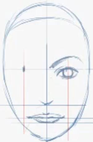 Loomis Technique For Female Head Construction Rendering Drawings Cartoon Drawings Andrew Loomis
