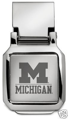 new-UNIVERSITY-of-MICHIGAN-Wolverines-ENGRAVED-SPRING-LOADED-SILVER-MONEY-CLIP