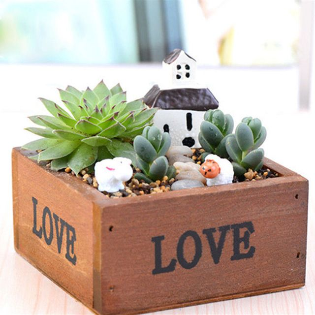 Natural square wooden succulent plant flower bed pot box garden decorative planter boxes on sale at reasonable prices buy natural square wooden succulent plant flower bed pot box garden planter decor from mobile site on workwithnaturefo